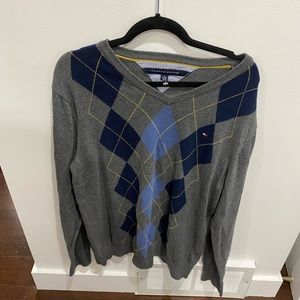 Size XL Men's sweater by Tommy Hilfiger - argyle sweater - perfect condition